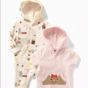 🐱 Baby Hooded One-Piece 2-Pack for Baby 🐱
